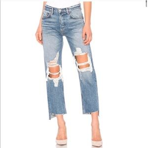 Grlfrnd Helena Relaxed Ripped High Waisted Jeans